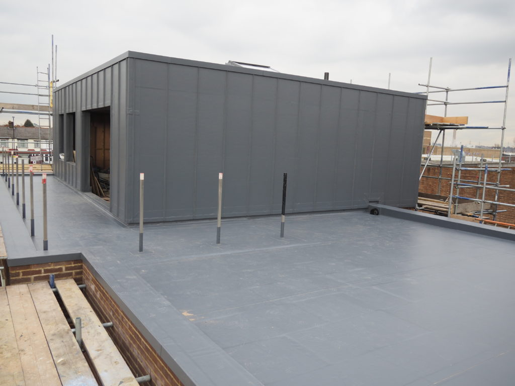 Rubik's Cube roof solved by Contour Roofing and Sika